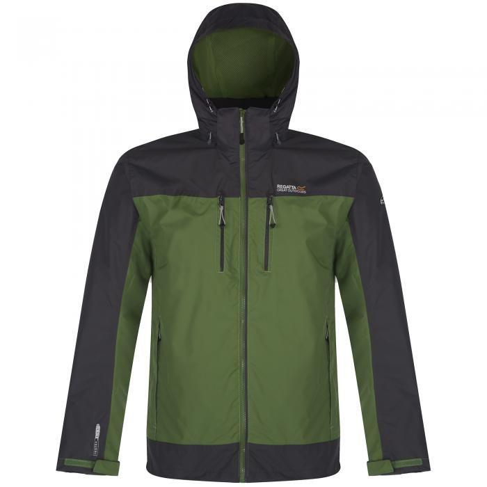 Regatta Men/'s Lyle III Waterproof Shell Jacket with Concealed Hood Green