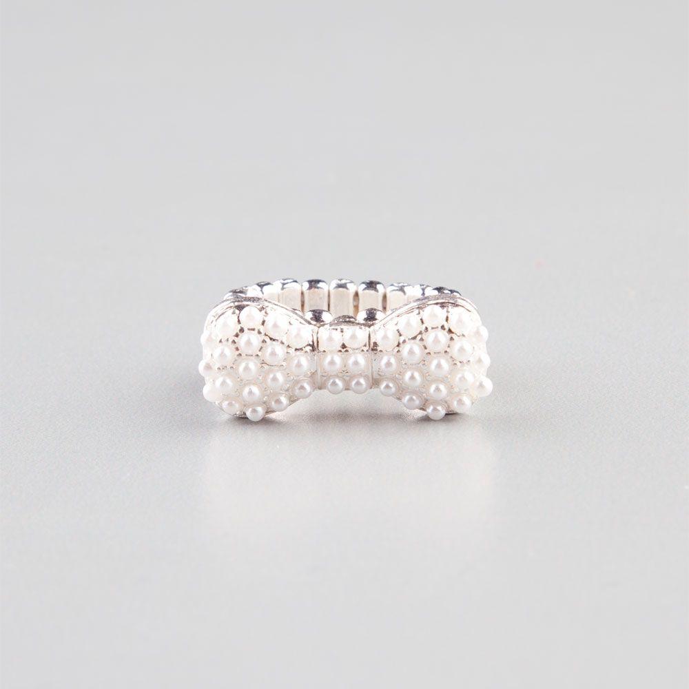 FULL TILT Pearl Bow Stretch Ring 220840140 | Rings | Tillys.com