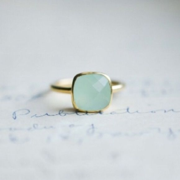 media rings green set statement pale cocktail engagement chalcedony ring bezel glowing crown