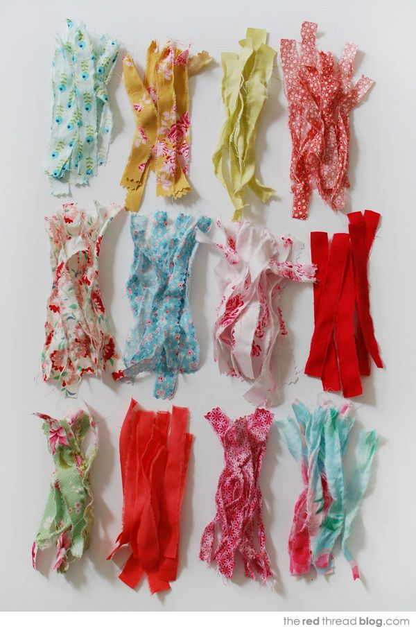 TUTORIAL :: Make sweet scrap fabric tassels - We Are Scout
