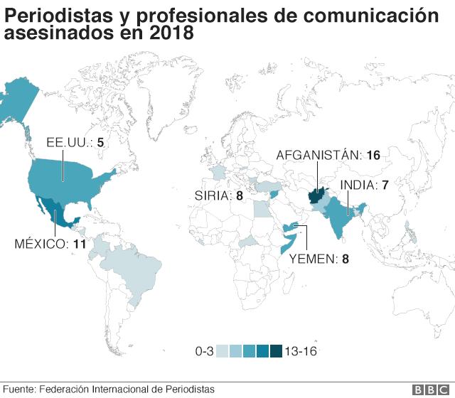 El Mapa Que Muestra Los Países Del Mundo En Los Que Matan A Más Periodistas Bbc News Mundo Mapa De Asia Países Del Mundo Mundo