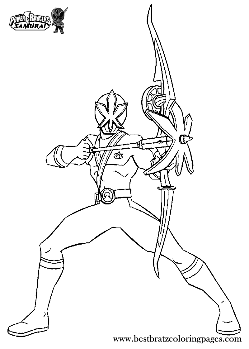 printable power rangers samurai coloring pages for kids bratz