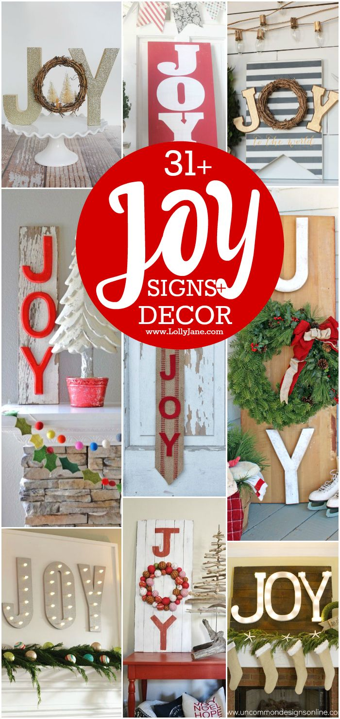 Christmas Sign Decorations New 31 Joy Sign And Decor Ideas  Diy Christmas And Christmas Decor Design Ideas