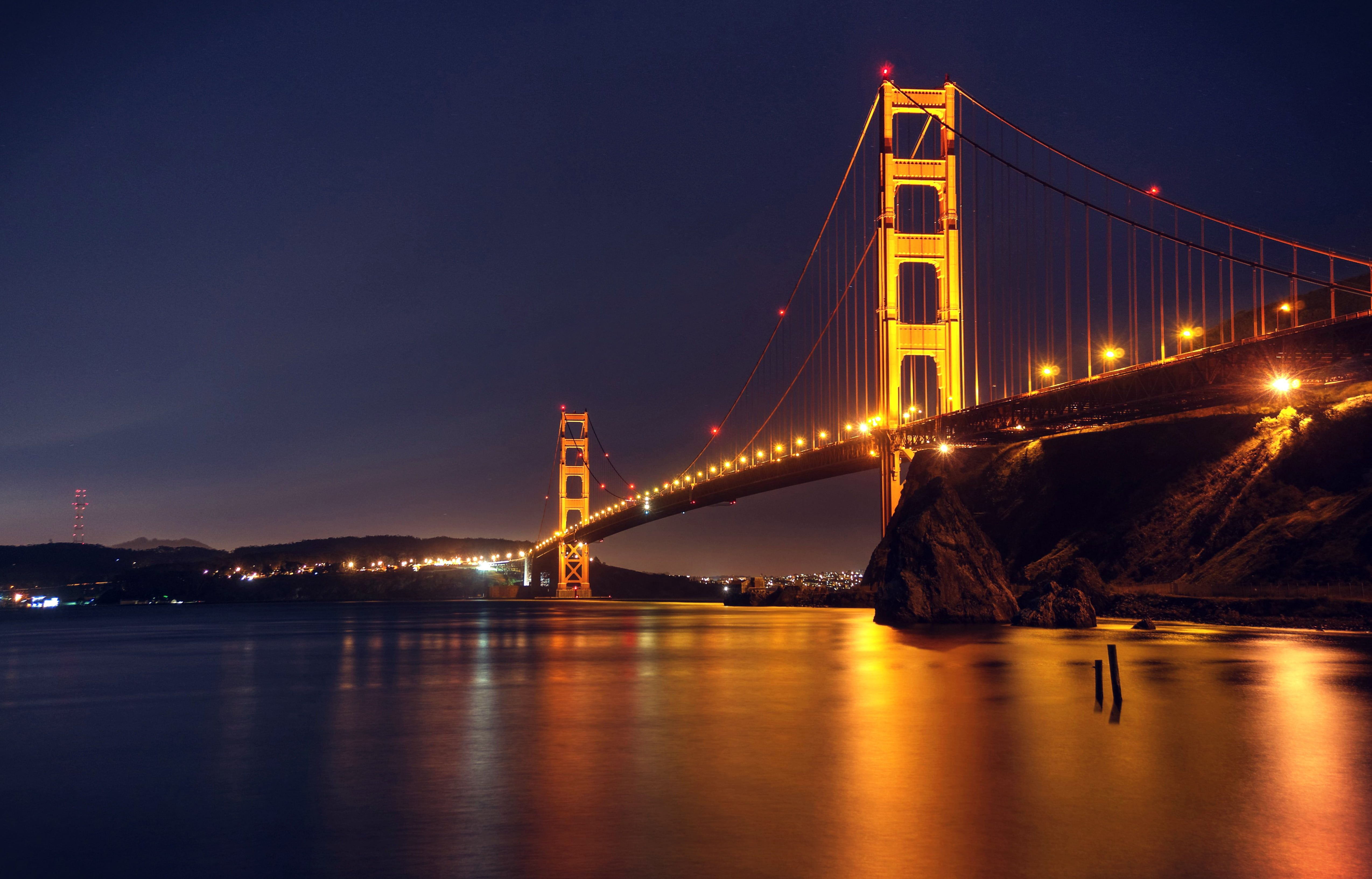 Golden Gate Bridge Night Wallpapers For Android Golden
