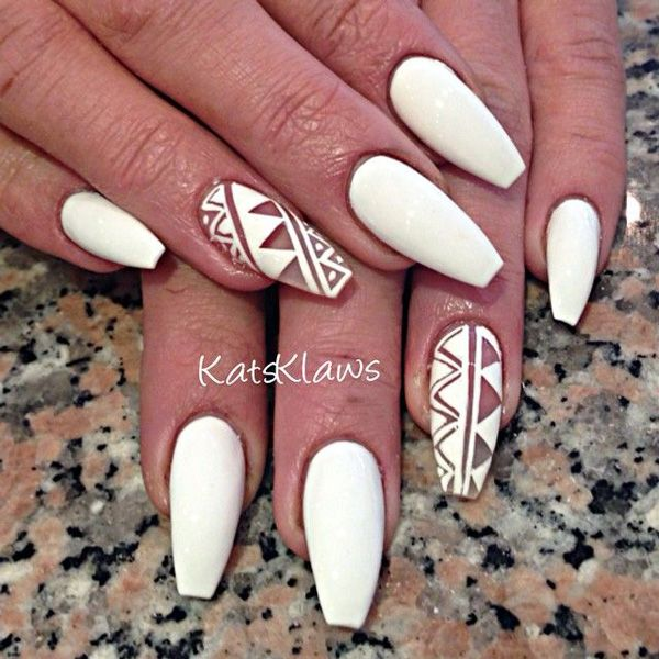 50 white nail art ideas white nails white nail art and nail nail 50 white nail art ideas prinsesfo Choice Image