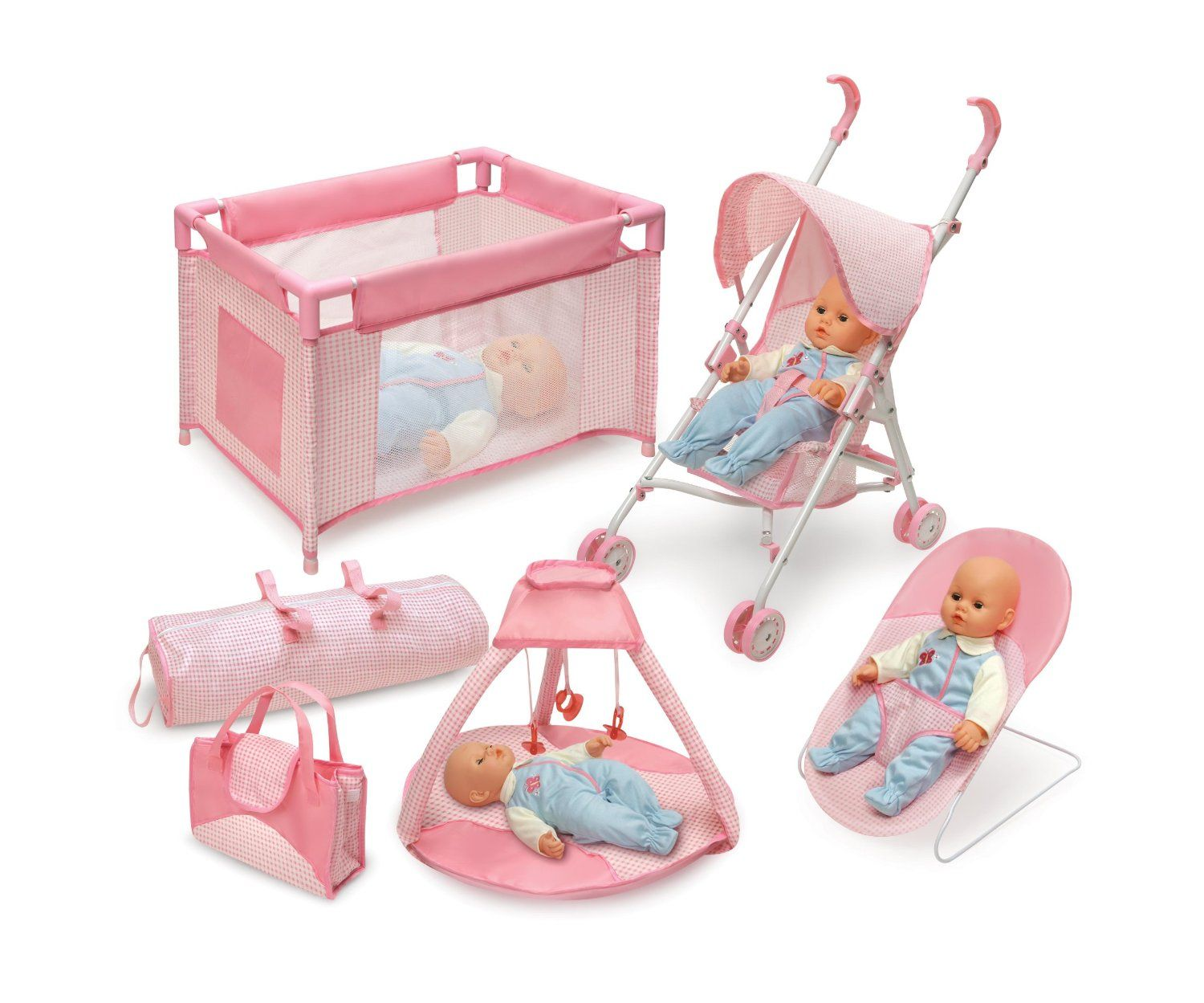 Amazon Com Badger Basket Five Item Doll Furniture And Accessory