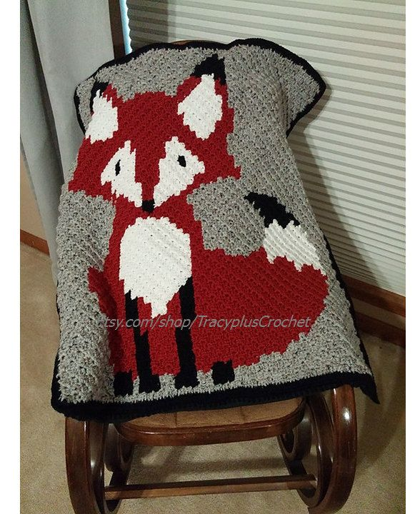 Crochet Fox blanket. 37