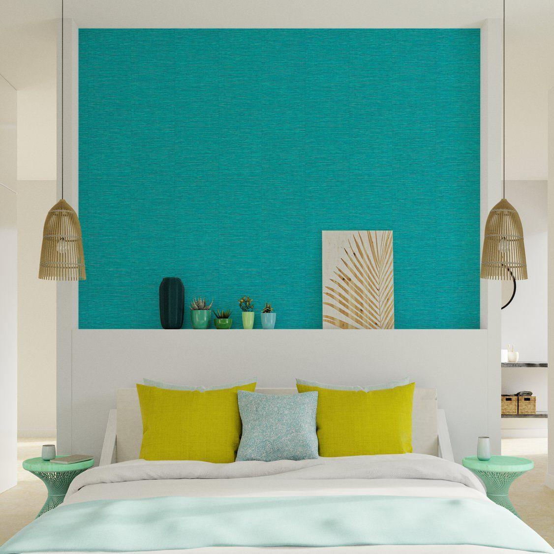 Papier Peint Intisse Curacao Coloris Bleu Turquoise Avec Images