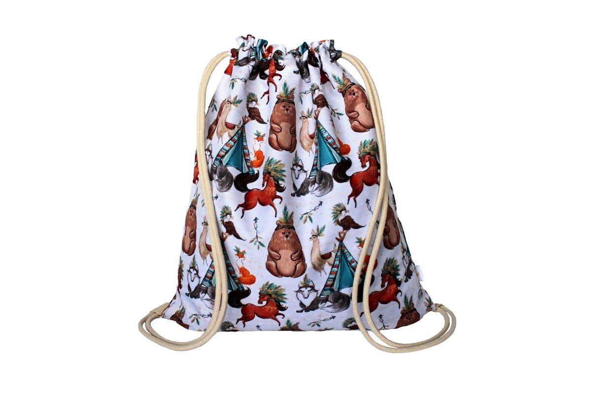 Plecak Worek Boho Misie Fashion Drawstring Backpack Bags