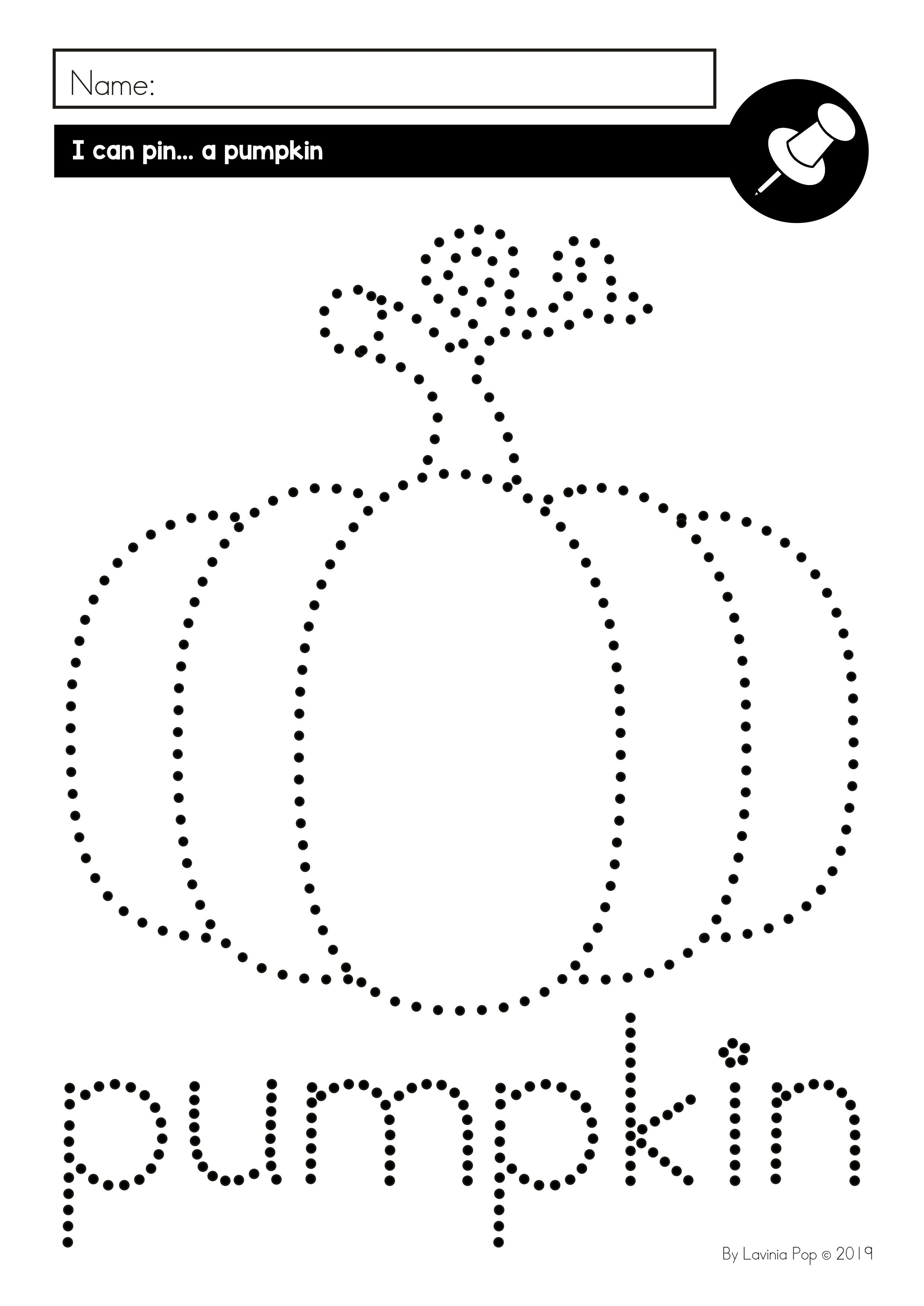 Fine Motor Printable Activities For October