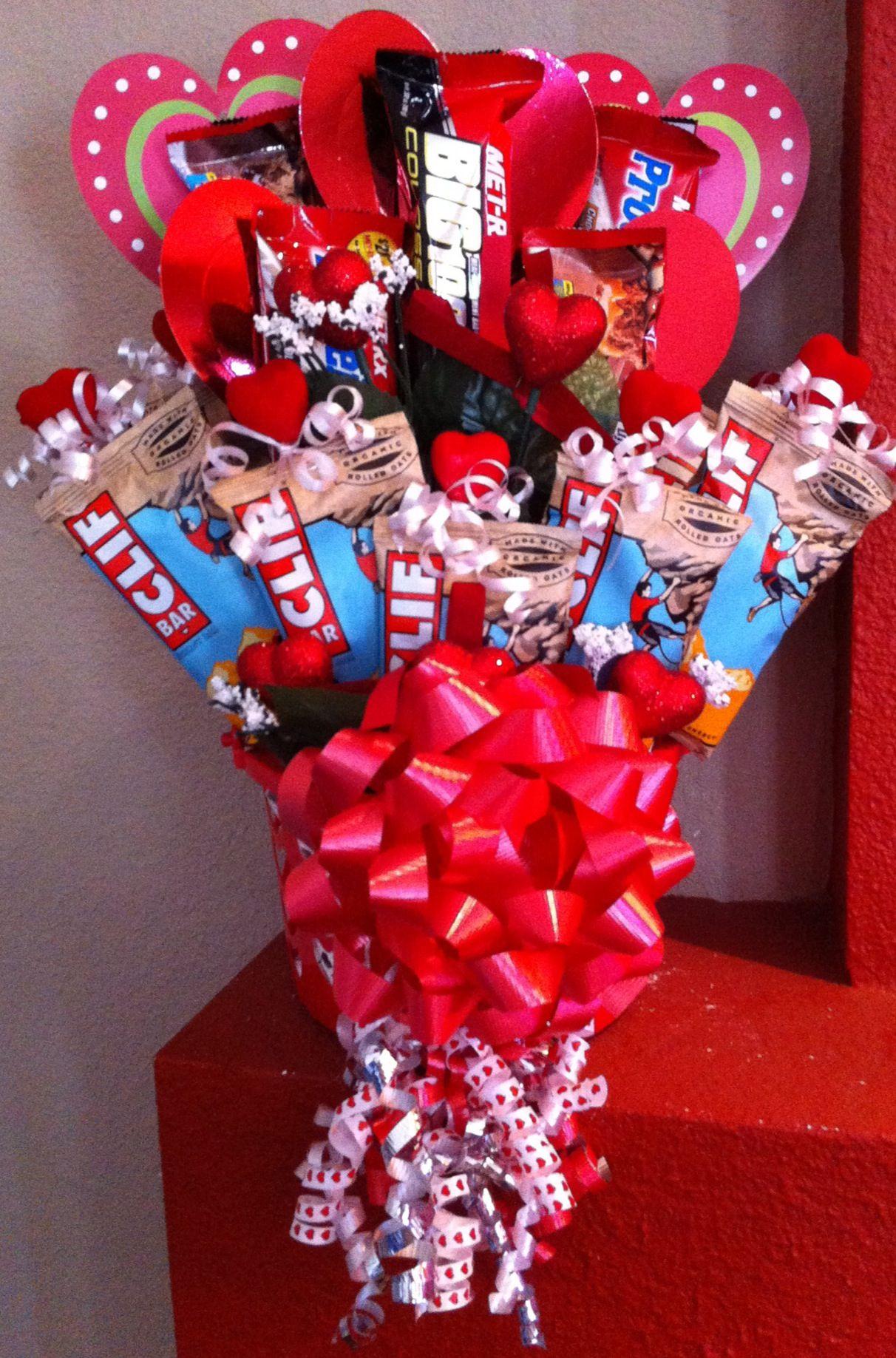 Valentine Protein Bar Gift Basket Bar Gift Basket Unique Valentines Day Ideas Valentine Gift