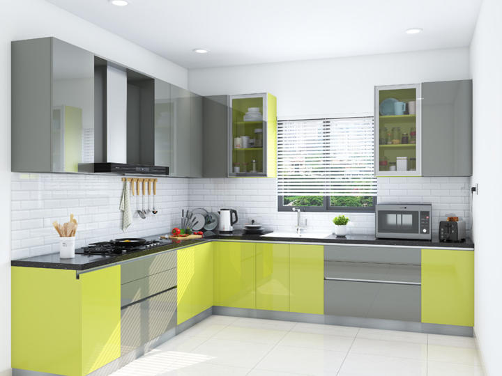 Desain Kitchen Set Hpl Hijau Dan Grey Desain Dapur Modern