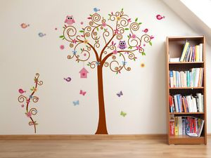 Fantastisch Wandtattoo Eule Baum Wandsticker Aufkleber Kinderzimmer Deko Cartoon Blume  Vögel