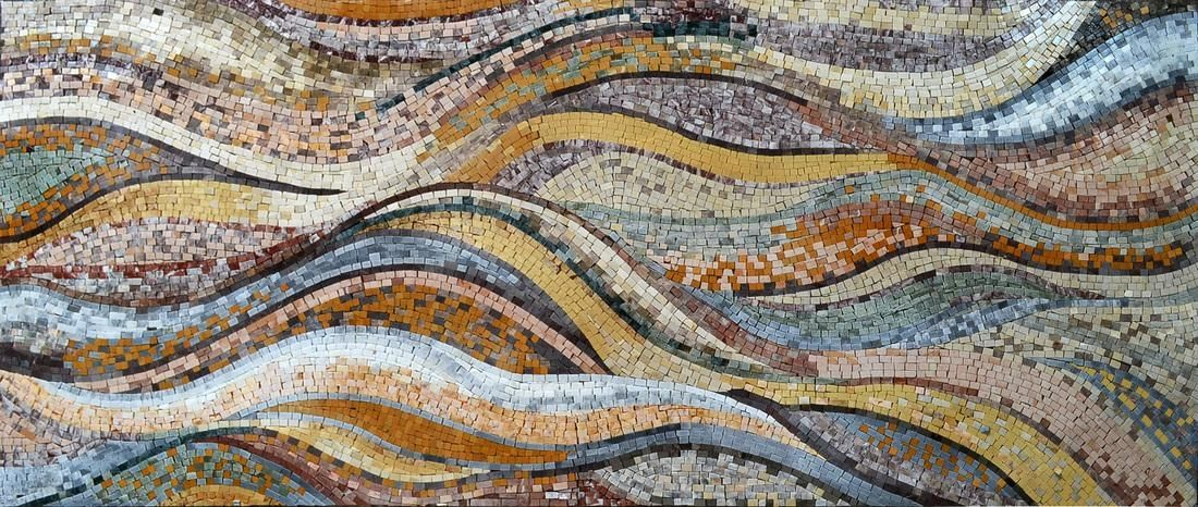 Beautiful Mosaic Tile Wave Pattern Ocean Bing Resimler