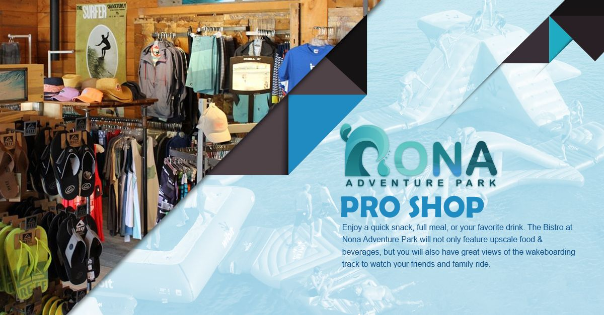 Our pro shop houses all of the equipment you would need to purchase or rent to enjoy our facilities. Our pros can also provide you with training sessions and coaching. #NonaAdventurePark #Waterpark #Inflatable #Wakeboarding #Adventure #Discover #FamilyFun #Vacations #Getaway #outdoors #NonaLake #ultimatefun #lifeofadventures #rockclimbing #clinbingthewall #livinglife