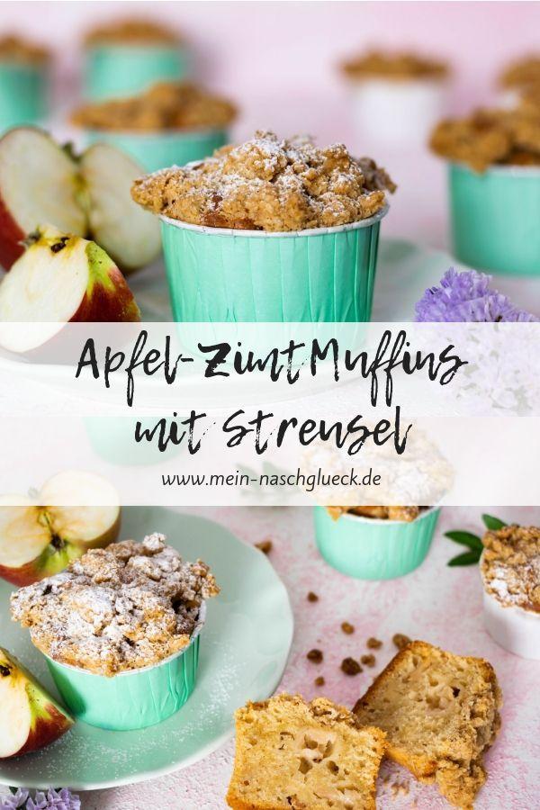 Apfel Muffins mit Streusel Rezept   Mein Naschglück