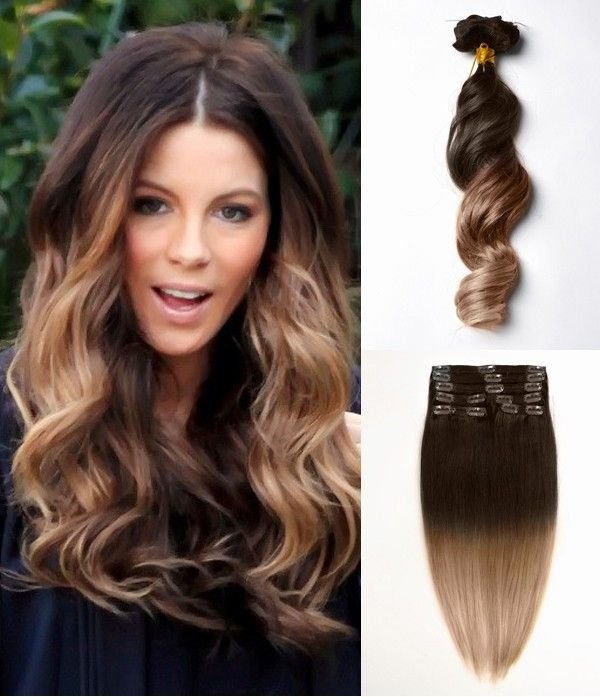 Brown dip dye ombre indian remy clip in hair extensions mc2026 brown dip dye ombre indian remy clip in hair extensions mc2026 pmusecretfo Image collections