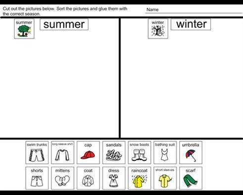 boardmaker achieve share winter vs summer activity boardmaker kindergarten activities. Black Bedroom Furniture Sets. Home Design Ideas