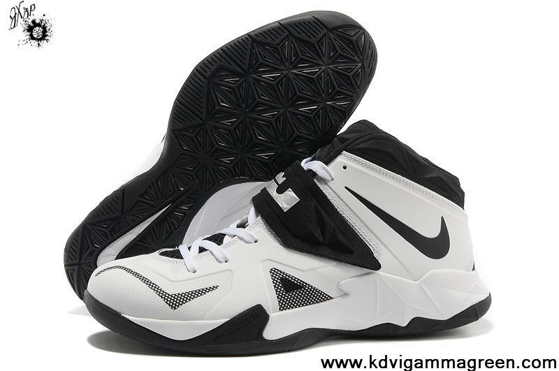 5e3dd9445a0b4 Shop Half off Nike Zoom Lebron Soldier 7 Sample Simple White Black Metallic  Silver 599264 003 Cheap Lebron Shoes