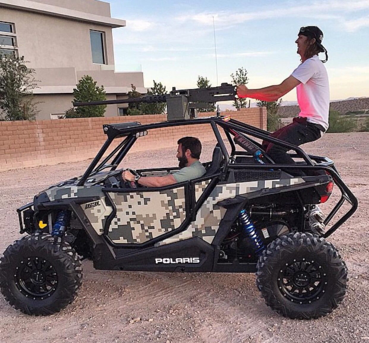 medium resolution of rzr with a 50 cal on top