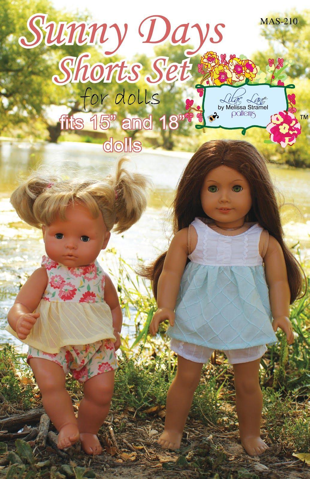 Lilac Lane by Melissa Stramel: Sunny Days Shorts Set for Dolls ...