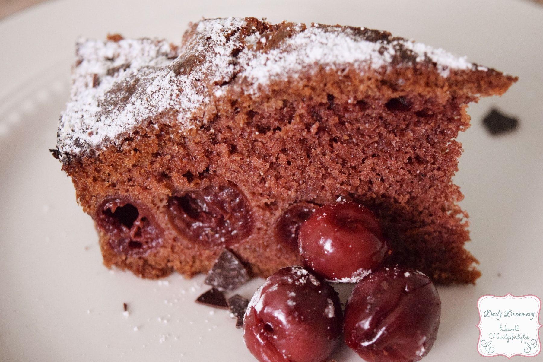 Luftig Lockerer Schoko Kirsch Kuchen Rezept Saftiger Schoko Kirsch Kuchen Schoko Kirsch Kuchen Und Kuchen Rezepte
