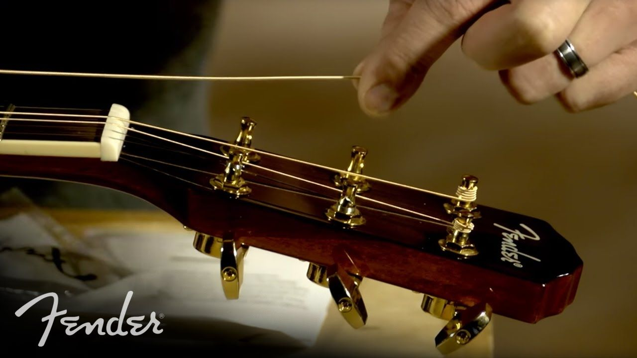 How to Change Your Acoustic Guitar Strings Fender