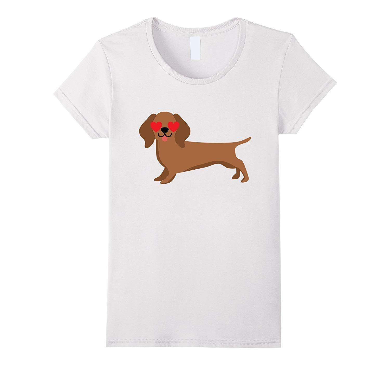 Dachshund Dog Emoji Heart Eye Shirt T Shirt Tee Teevkd Dog Emoji
