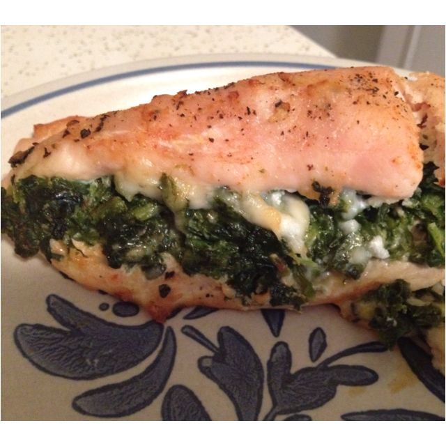 Spinach And Feta Stuffed Chicken Breasts Recipe — Dishmaps