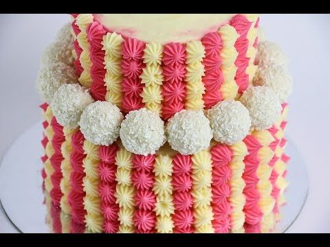 Mini Piped Two Tier Baby Shower Cake- Rosie's Dessert Spot - YouTube