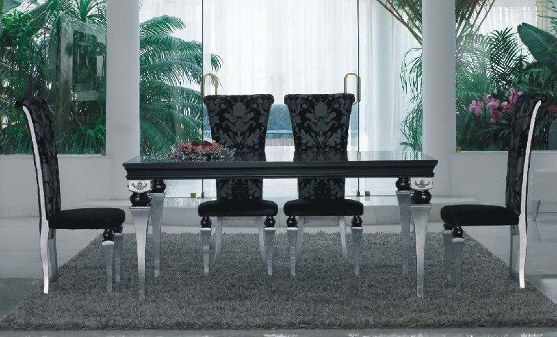 Luxury Black Silver Dining Table Dining Table Luxury Dining