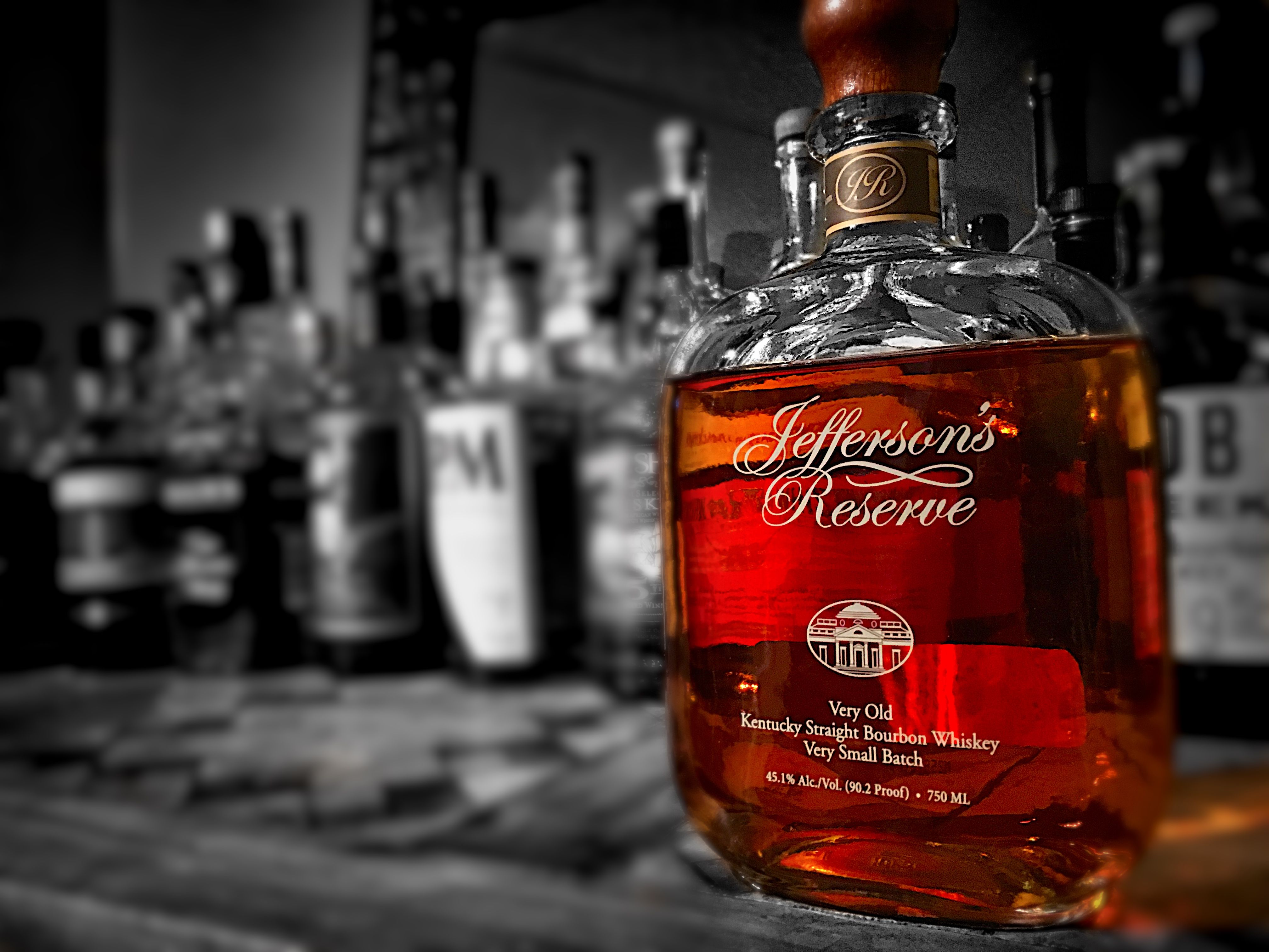 Jefferson S Reserve Very Old Kentucky Straight Bourbon Very Small Batch Bourbon Straight Bourbon Whiskey Bottle
