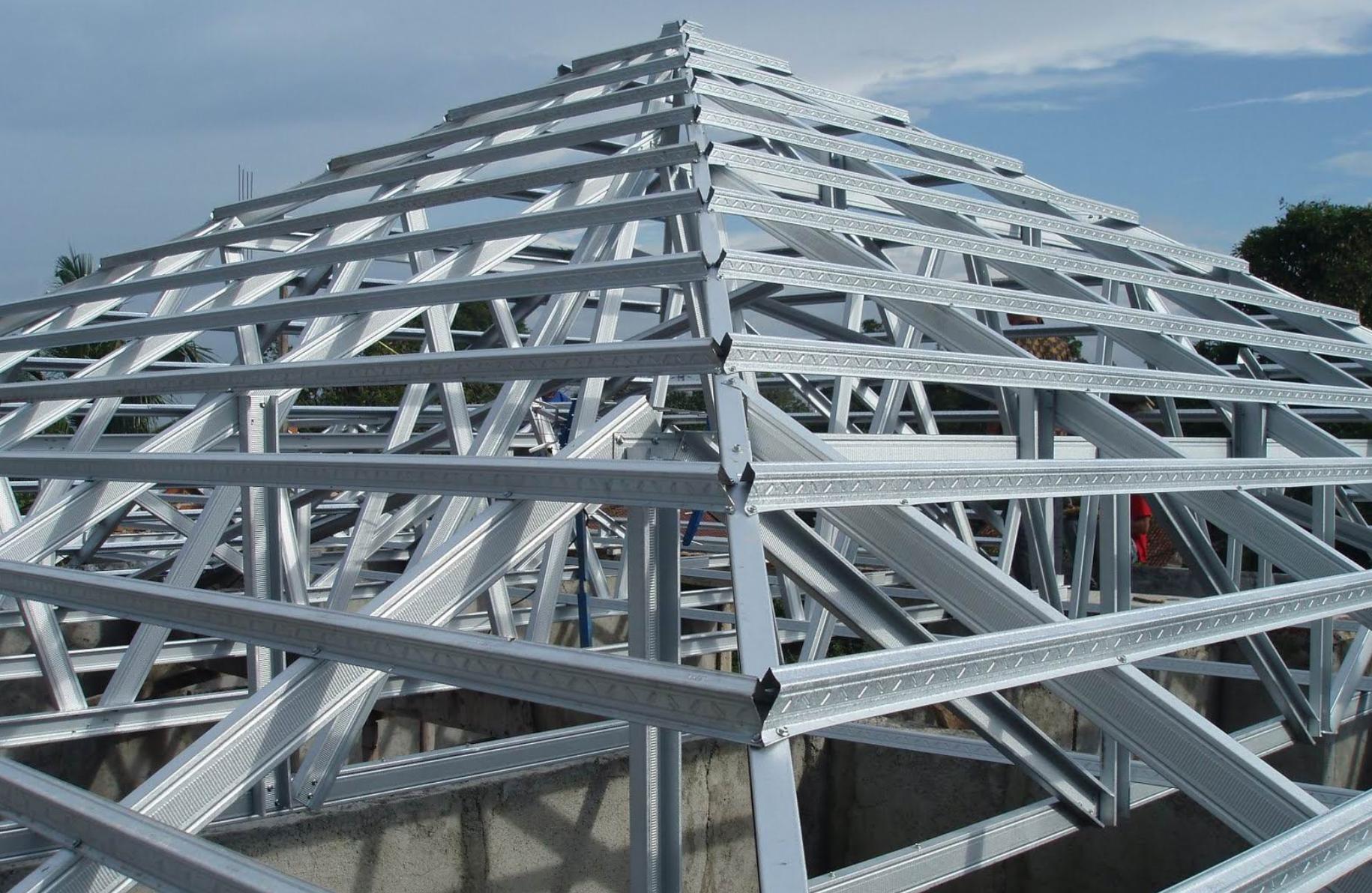 harga rangka baja ringan manado atap s d kanopi