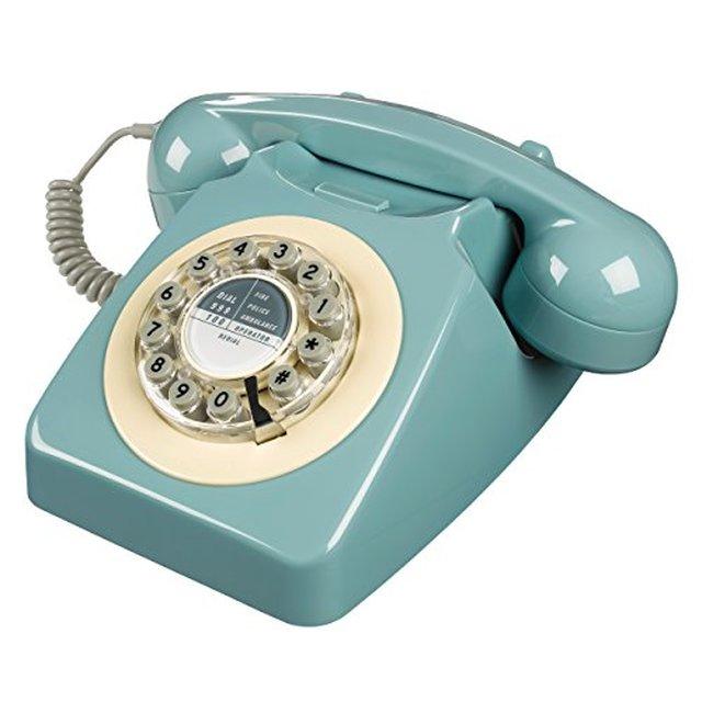 Wild Wood Rotary Design Retro Landline Phone for Home