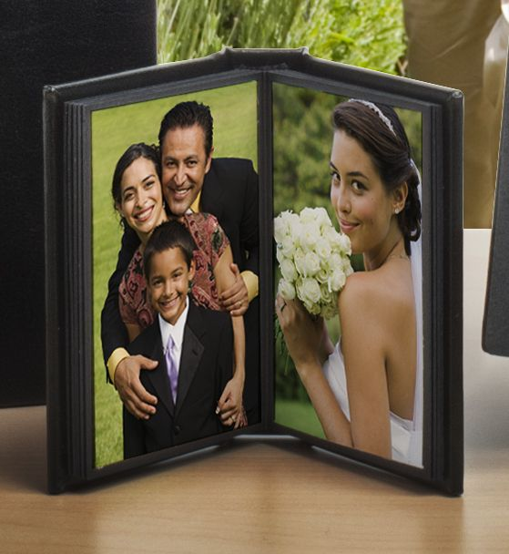 Cute wallet album! Perfect for grandma and other family members to show off wedding pictures.