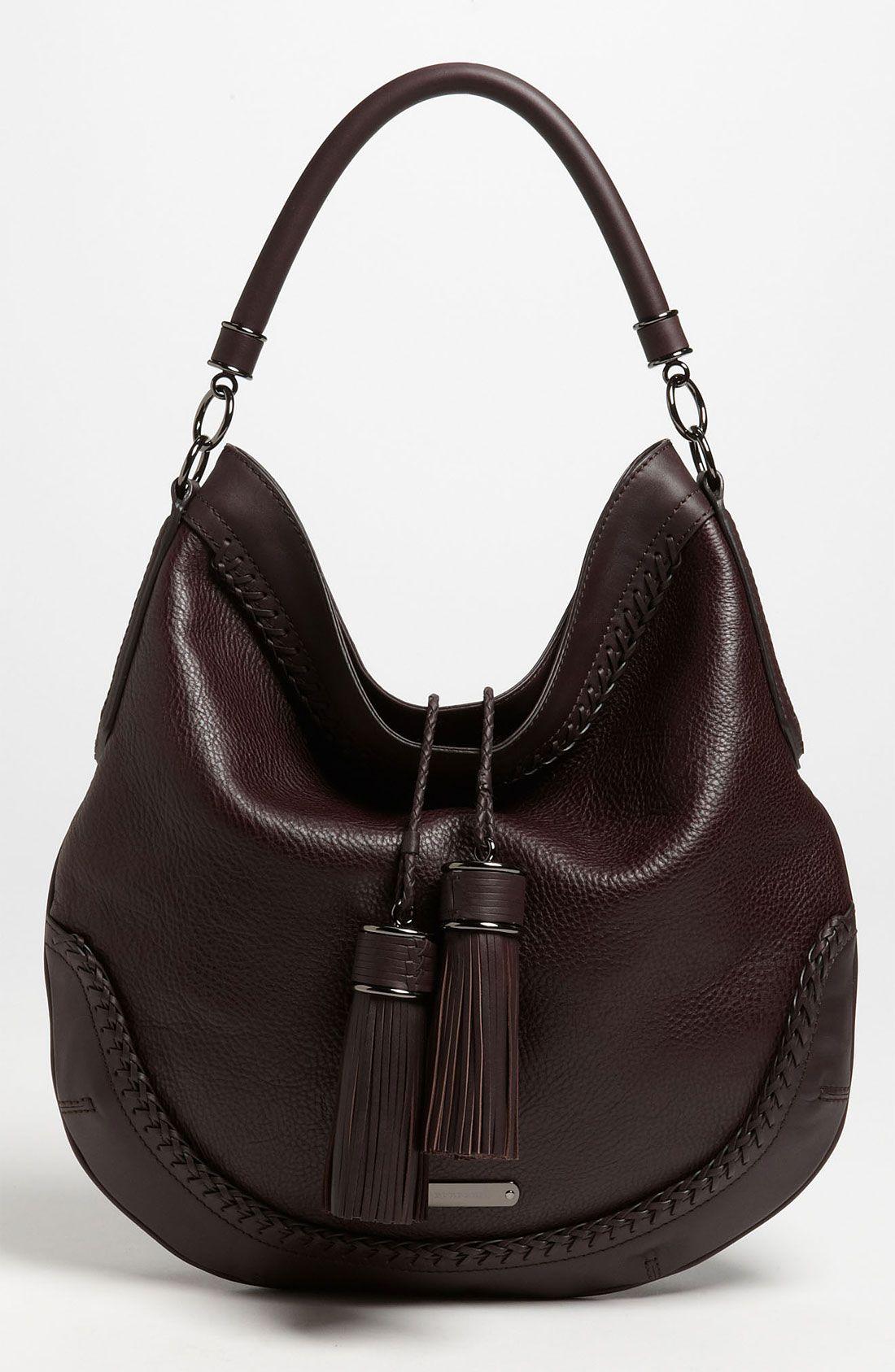 http   www.lyst.com bags burberry-tassel-hobo-plum  product-gallery ... 357028118c1