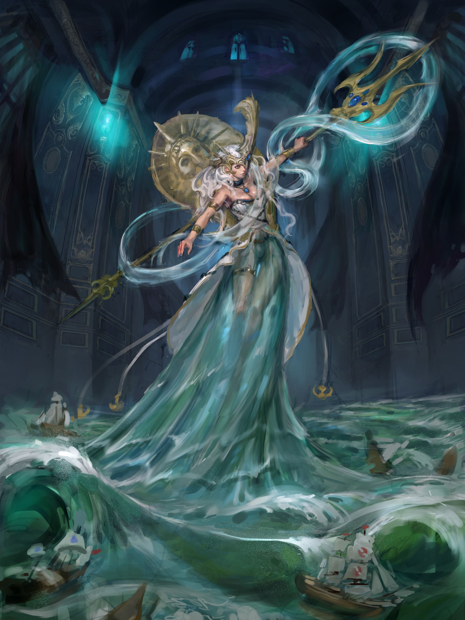 Greek Mythology Poseidon Fantasy Art