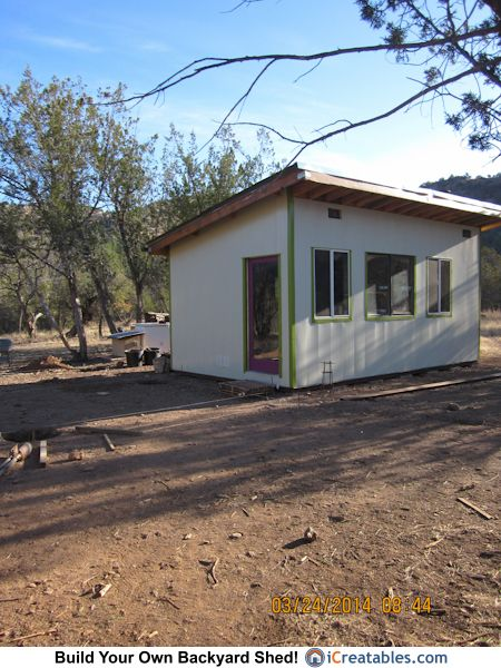 12x20 modern shed built in New Mexico A great example of