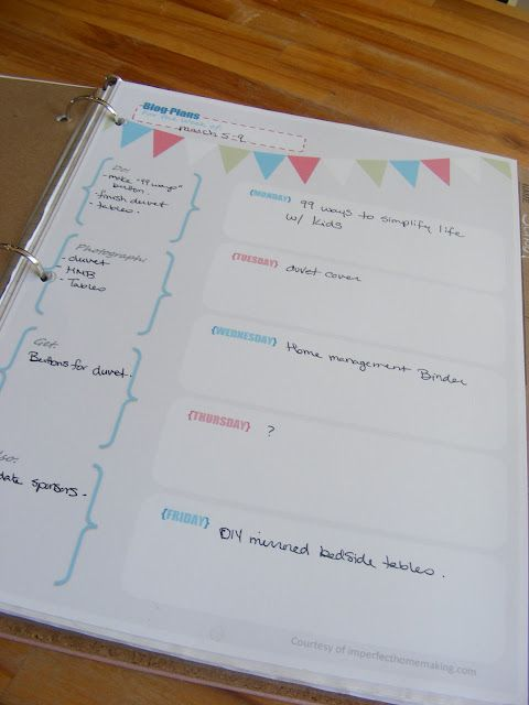 Free Printables for your Home Management Binder | Organization ...