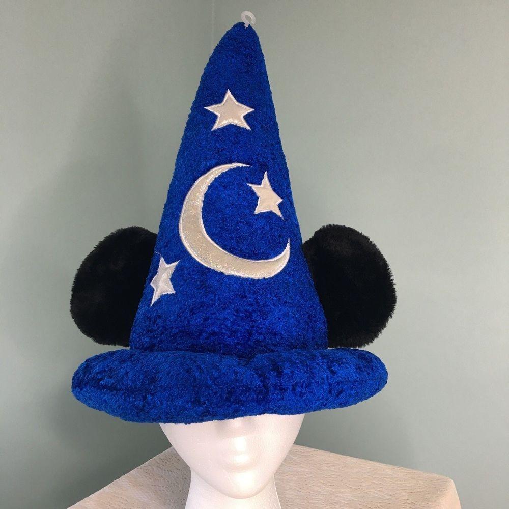 Walt Disney World Parks Mickey Mouse Sorcerers Fantasia Wizard Velvet Hat  Blue  DisneyParks cf35e89e990