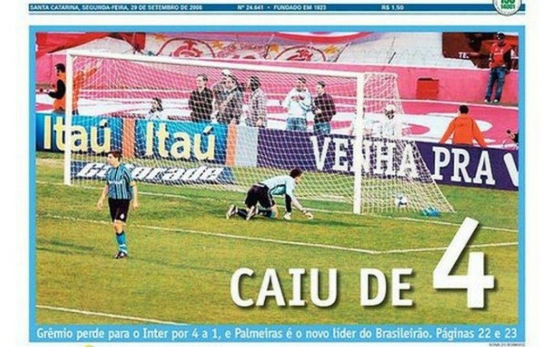 Brasileirao De 2008 Inter 4 X 1 Gremio O Grenal Da Piedade O Tecnico Do Inter Tite Pediu Para O Inter Segurar O Ritmo E Apenas Adminis Brasileirao Gremio 1