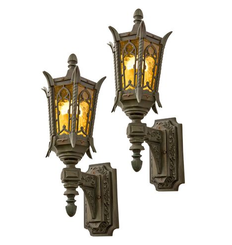 Extra Large Bronze Entry Sconces Circa 1920s Antique Lighting Vintage Wall Lights Lights