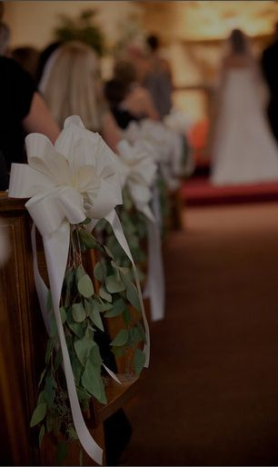 Pew Bow Simple Pew Bows Wedding Simple Church Wedding Wedding