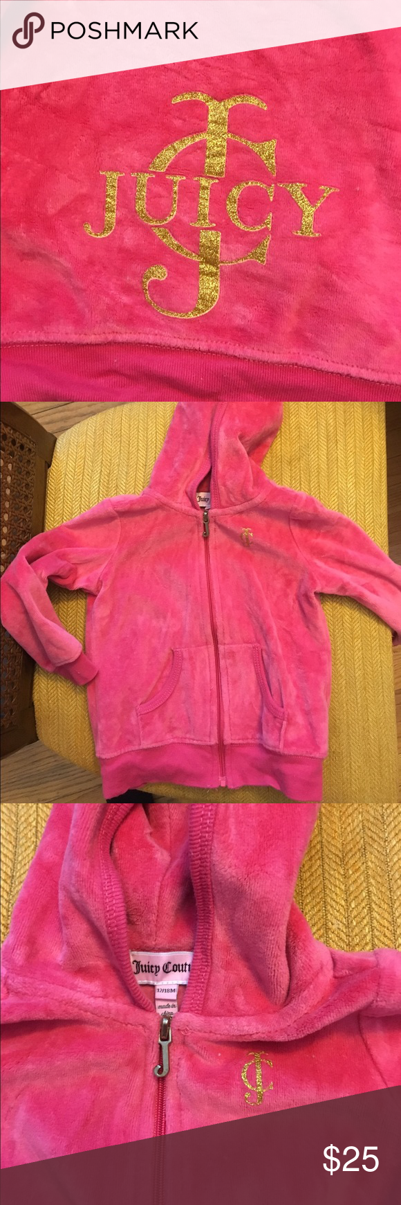 Juicy Couture Sweatsuit toddler 18 months Worn once! Pet free smoke free home! Juicy Couture Matching Sets