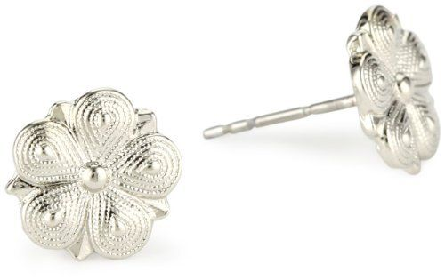 1928 Jewelry Vintage-Inspired Silver Star Flower Stud Earrings 1928 Jewelry. $8.00. Great bridal style. Made in USA