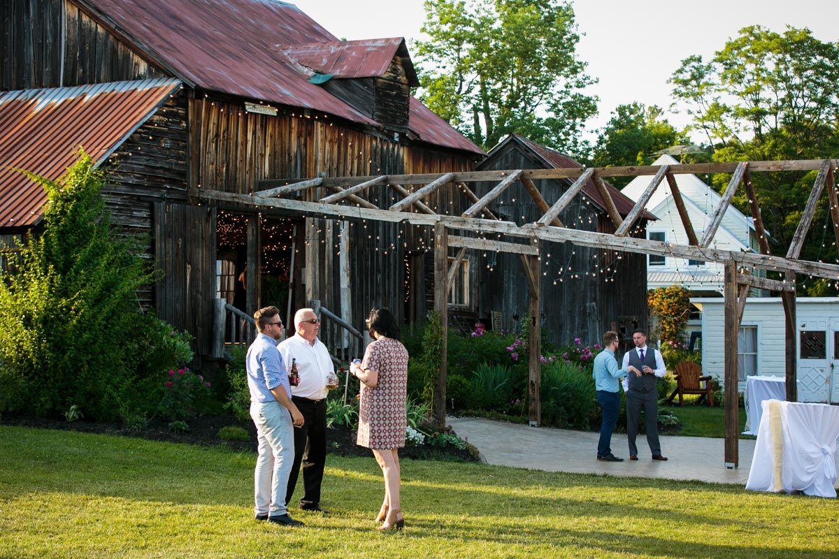 Burlap and beams albany ny adirondack barn wedding