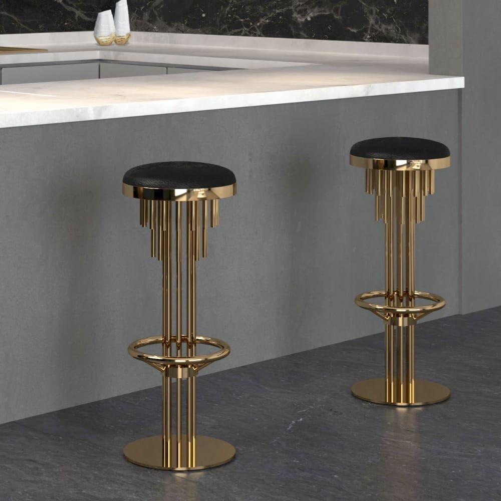 High End Designer Walnut Velvet Bar Stool Juliettes Interiors Art Deco Chair Luxury Bar Stools Art Deco Interior Design