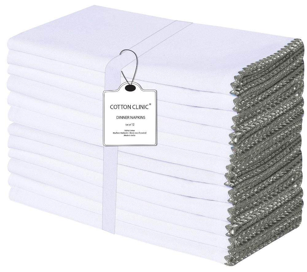 Clinique Du Coton Serviettes De Table 50 X 50 Cm 100 Coton Serviettes De Table Tissu Doux Et En 2020 Serviette De Table Serviette De Table Tissu Serviettes En Tissu