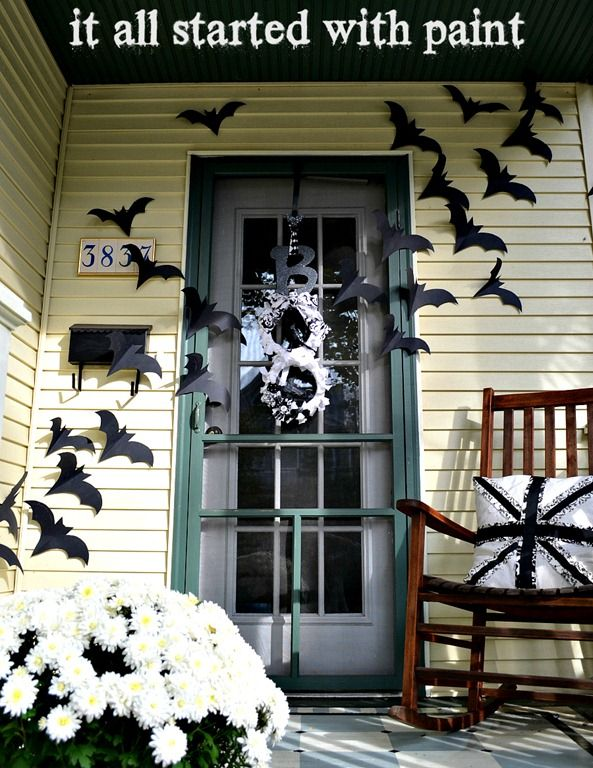 Bat door decoration Halloween ideas Pinterest Halloween ideas - pinterest halloween door decor