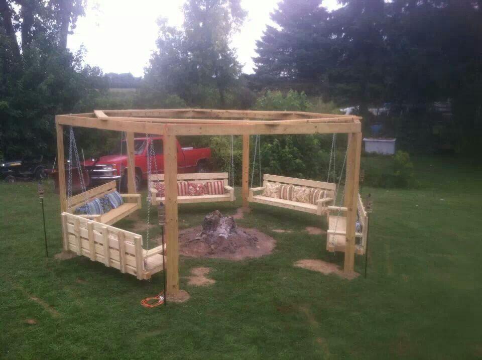 Charmant Backyard Swing Circle   Someday!